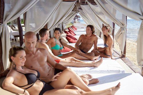 Desire Riviera Maya Resort Beach Beds Couples