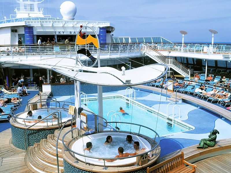 Incredible image of the pool at Temptation Caribbean Cruise