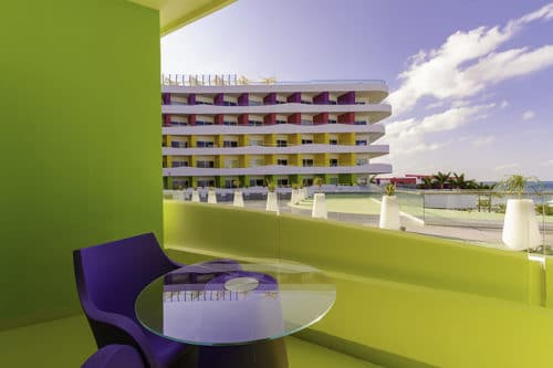 Temptation Cancun Resort | Bash Tower Ocean View Room Balcony
