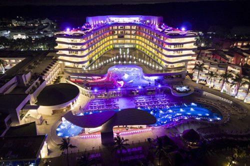 Temptation Cancun Resort | Aerial Night