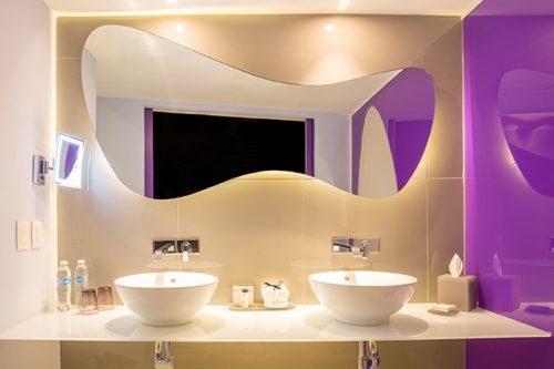 Temptation Cancun Resort | Lush Tower Oceanfront Suite Bathroom