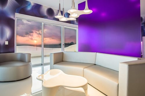 Temptation Cancun Resort | Oceanfront Master Suite Living Room