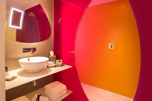 Temptation Cancun Resort | Plush Jacuzzi Room Bathroom