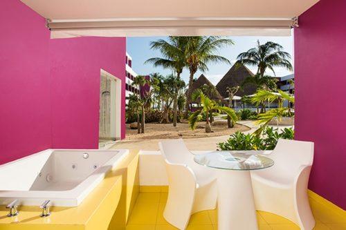 Temptation Cancun Resort | Plush Jacuzzi Room Terrace