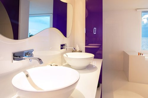Temptation Cancun Resort | Seduction Beachfront Suite Bathroom