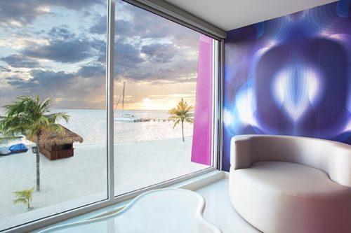 Temptation Cancun Resort | Seduction Beachfront Suite Living Room