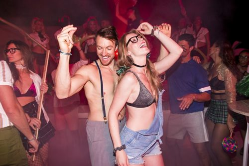 Temptation Cancun Resort | School Girls & Nerds Theme Night