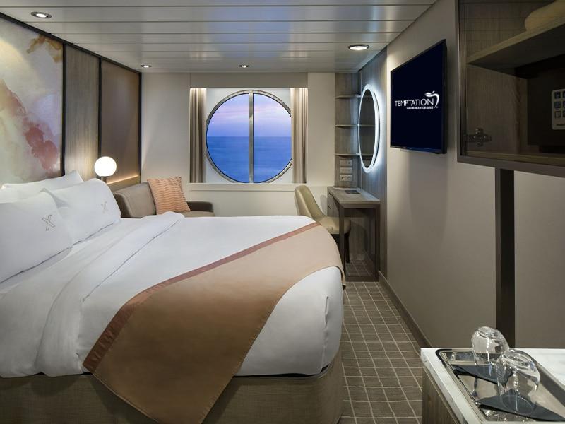 Temptation Caribbean Cruise | Oceanview Stateroom