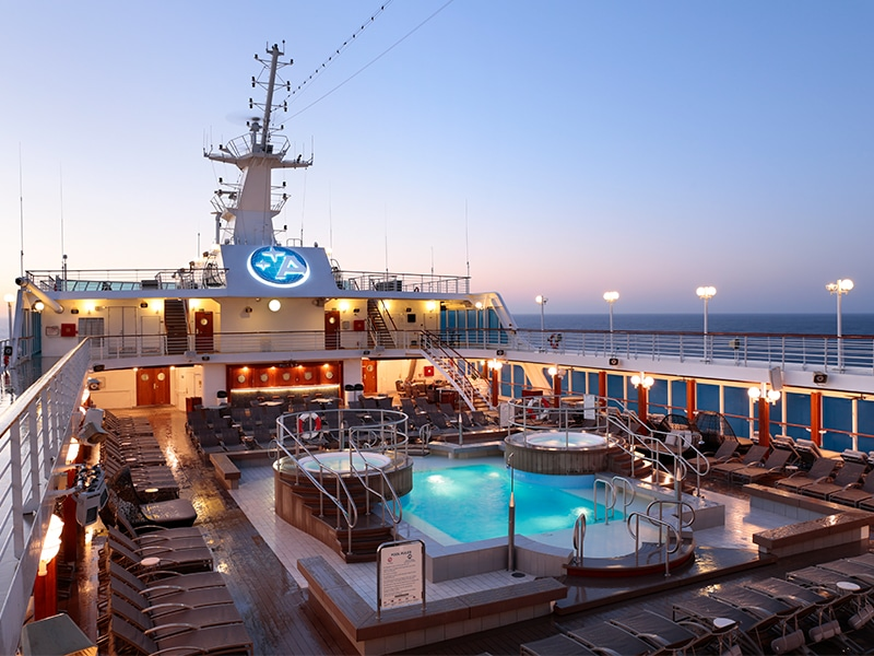 Desire Lisbon-Ibiza Cruise | Pool Deck Sunrise