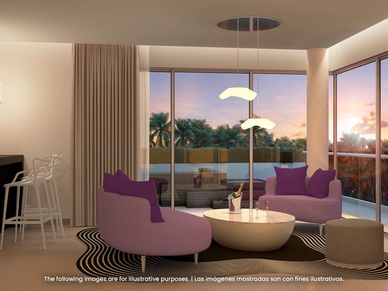 Temptation Miches Resort   Let's Play Private Pool Ocean View Master Suite Livingroom