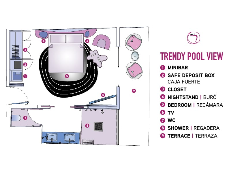 Temptation Miches Resort   Trendy Pool View Floor Plan