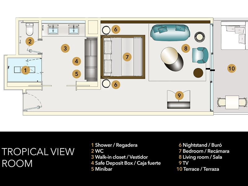 Temptation Grand Miches Resort | Tropical View Room Floor plan