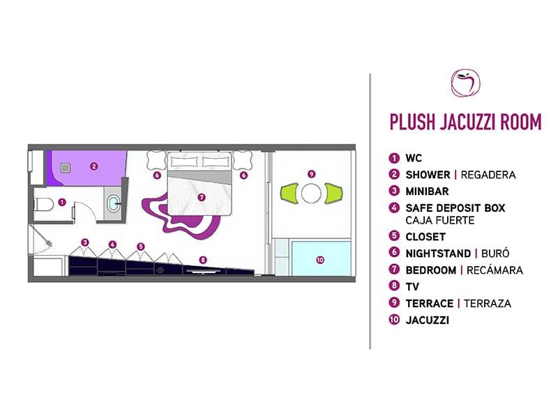 Temptation Cancun Resort | Plush Jacuzzi Room