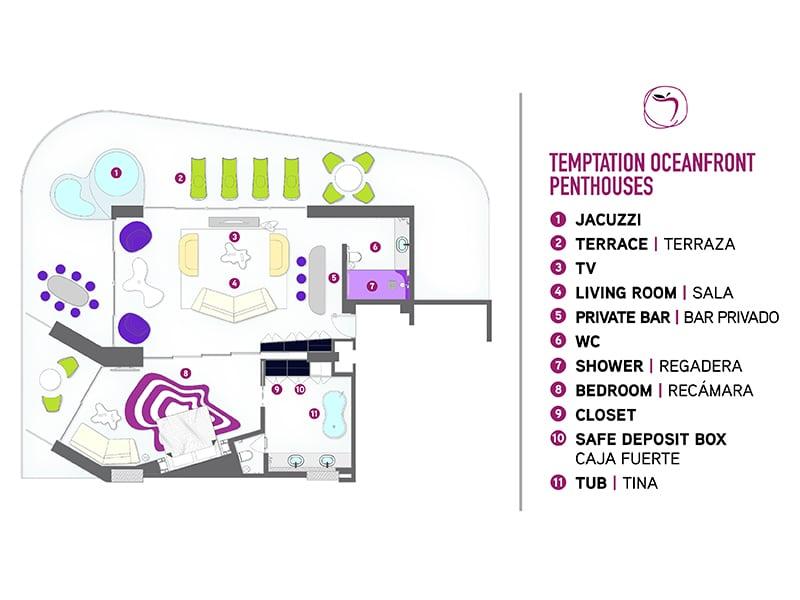 Temptation Cancun Resort | Temptation Oceanfront Penthouse